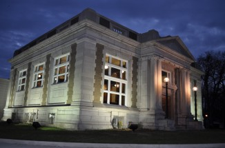 Lincoln Carnegie Branch Library Nighttime