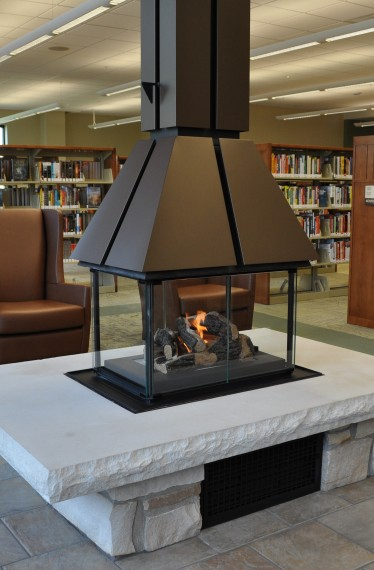 Library Design, Peoria North Branch, interiors