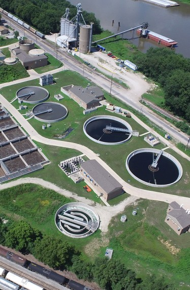 Pekin Wastewater Treatment Plant, CSO, civil engineering