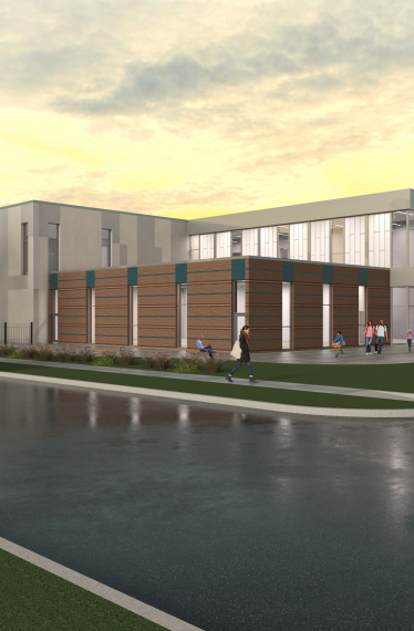 An artists rendering of the YMCA Entry