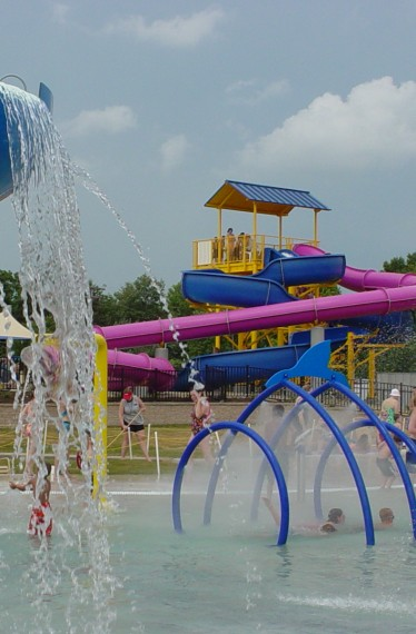 Anderson Aquatic Center Slides
