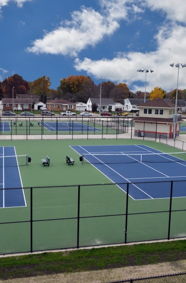Morton High School Tennis Courts